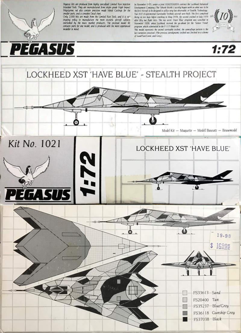 Pegasus 1/72 Lockheed XST (Have Blue)Build